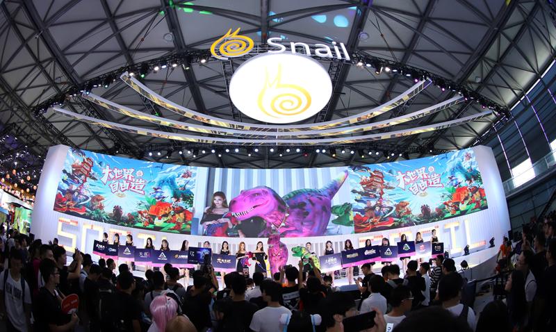 恐龙来过!2018ChinaJoy蜗牛数字缔造虚拟大世界